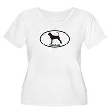 BLACK TAN COONHOUND Womens Plus-Size Scoop Neck T