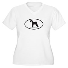 AIREDALE TERRIER Womes Plus-Size V-Neck T-Shirt