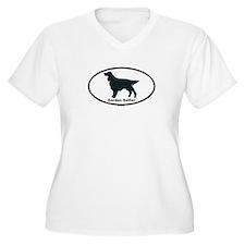 GORDON SETTER Womes Plus-Size V-Neck T-Shirt