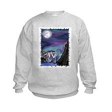 Kids Wolf full moon Sweatshirt