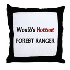 World's Hottest Forest Ranger Throw Pillow