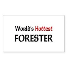 World's Hottest Forester Rectangle Decal