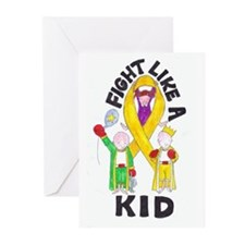 Fight Like A Kid Greeting Cards (Pk of 20)
