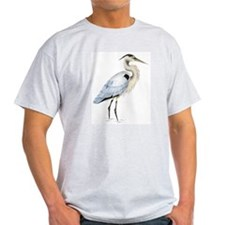 Great blue heron Ash Grey T-Shirt