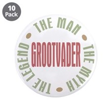 "Grootvader Dutch Grandad Man Myth 3.5"" Button (10"