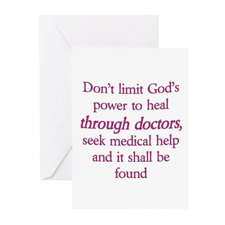Don't limit God Greeting Cards (Pk of 10)
