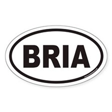 BRIA Euro Oval Decal