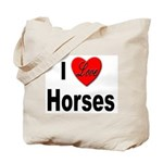 I Love Horses Tote Bag