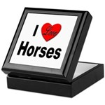 I Love Horses Keepsake Box