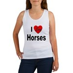 I Love Horses (Front) Women's Tank Top