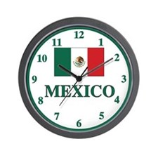 Mexico Flag Wall Clock