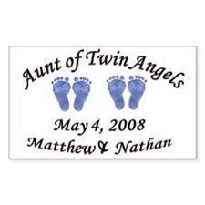Aunt of Twin Angels Matthew & Nathan Decal