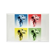 Wolfhound Pop Art Rectangle Magnet (100 pack)