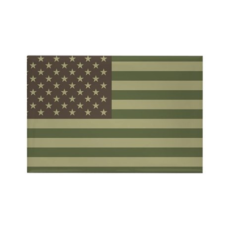 Camo American Flag Rectangle Magnet