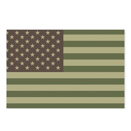 Camo American Flag Postcards (Package of 8)