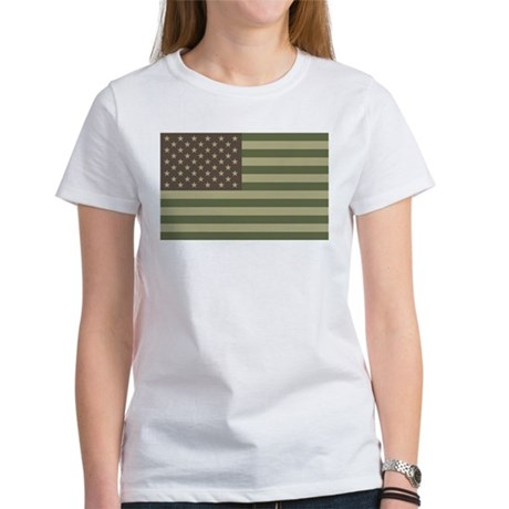 Camo American Flag Women's T-Shirt