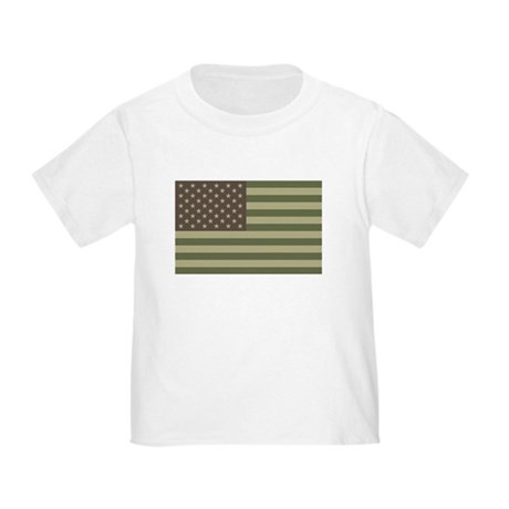 Camo American Flag Toddler T-Shirt