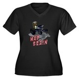 Wierd Wheels - Mad Brain Women's Plus Size V-Neck