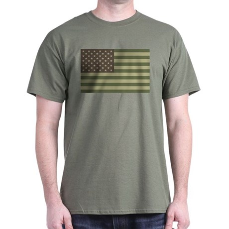 Camo American Flag Dark T-Shirt