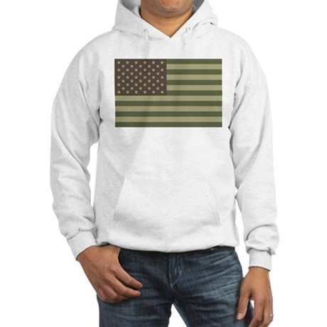 Camo American Flag Hooded Sweatshirt