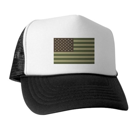 Camo American Flag Trucker Hat