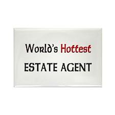 World's Hottest Estate Agent Rectangle Magnet
