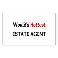World's Hottest Estate Agent Rectangle Decal