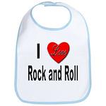 I Love Rock and Roll Bib
