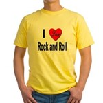 I Love Rock and Roll Yellow T-Shirt