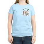Cartoon Just Married Women's Light T-Shirt