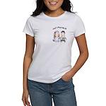 Cartoon Just Married Women's T-Shirt