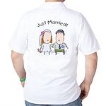 Cartoon Just Married Golf Shirt
