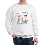 Cartoon Just Married Sweatshirt