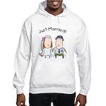 Cartoon Just Married Hooded Sweatshirt