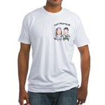 Cartoon Just Married Fitted T-Shirt