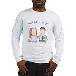 Cartoon Just Married Long Sleeve T-Shirt