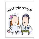 Cartoon Just Married Small Poster