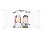 Cartoon Just Married Banner