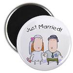 Cartoon Just Married Magnet