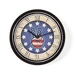 Peace Flag Hand Wall Clock