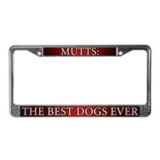 Red Best Dogs Mutts License Plate Frame