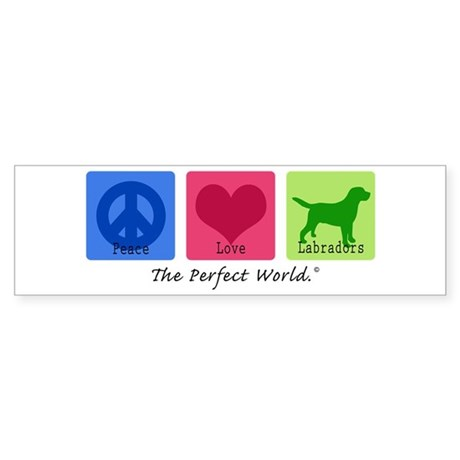 Peace Love Labs Sticker (Bumper)