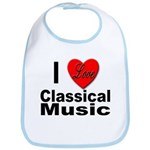 I Love Classical Music Bib