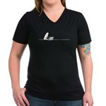 WTD: At Laptop Women's V-Neck Dark T-Shirt