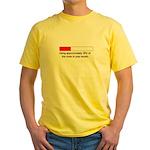 CAPACITY IN WOMB Yellow T-Shirt