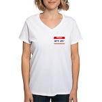 BITE ME Women's V-Neck T-Shirt