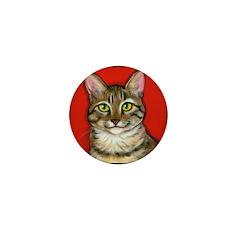 Tabby Cat Mini Button (10 pack)