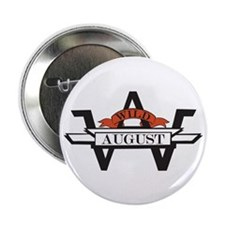 "Cute August 2.25"" Button (100 pack)"