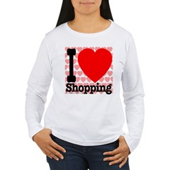 I Love Shopping Women's Long Sleeve T-Shirt