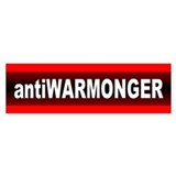 ANTIWARMONGER Bumper Car Sticker